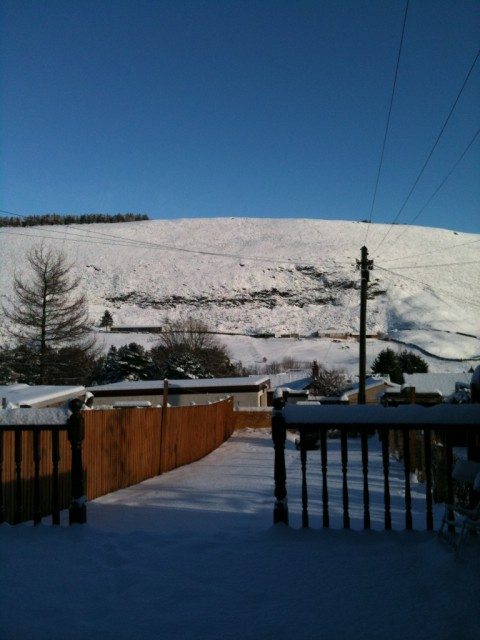 view of mountain in Maerdy Wales